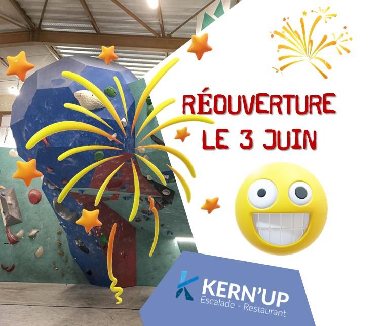 Réouverture de votre salle Kern'Up ce Mercredi 3 Juin !🤩